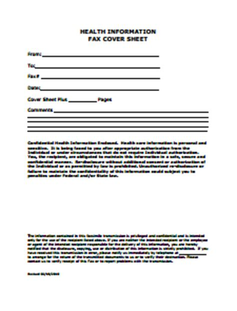 Template for fax cover letter microsoft word